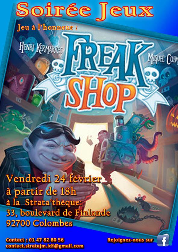 Soirée jeux freak shop